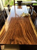 Live edge Monkey pod Dining table