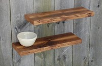 Floating fir shelves